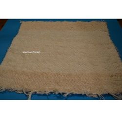 Chodnik bawełniany (wycieraczka) ręcznie tkany ecru, brzegi ciemniejsze 65x50