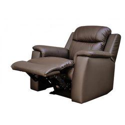 Skórzany fotel z funkcją relaks EVASION - czekoladowy
