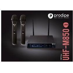 Prodipe M850 DSP DUO UHF mikrofon bezprzewodowy podwójny, zmienna częstotliwość Płacąc przelewem przesyłka gratis!