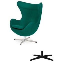 Fotel Jajo EGG CLASSIC - 3 kolory nóżek - wełna - Szmaragdowy zielony
