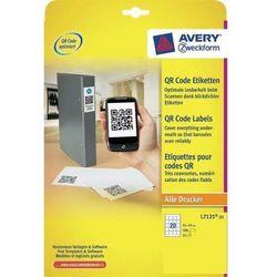 Etykiety do kodów QR AVERY 45 X 45 mm, 20 etykiet/A4 ekologiczne - X06556