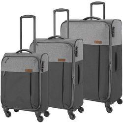 Travelite Neopak zestaw walizek / komplet / walizki na 4 kółkach / szary - antracyt