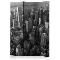 Parawan 3-częściowy - Nowy Jork: wieżowce (widok z lotu ptaka) [Room Dividers]