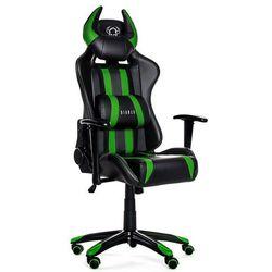 Fotel DIABLO CHAIRS X-One Horn Czarno-zielony + Zamów z DOSTAWĄ JUTRO!