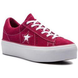 Sneakersy CONVERSE - One Star Platform Ox 563488C Rhubarb/White/White