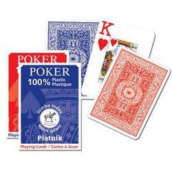 100 % plastikowe, Classic Poker - duże indeksy, talia niebieska - karty do gry