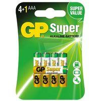Baterie, 5 x bateria alkaliczna GP Super Alkaline LR03/AAA