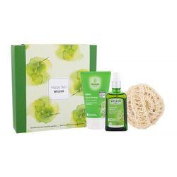Weleda Happy Skin zestaw Olejek na selluit Birch 100 ml + Żel pod prysznic Birch 150 ml + Gąbka do masażu dla kobiet