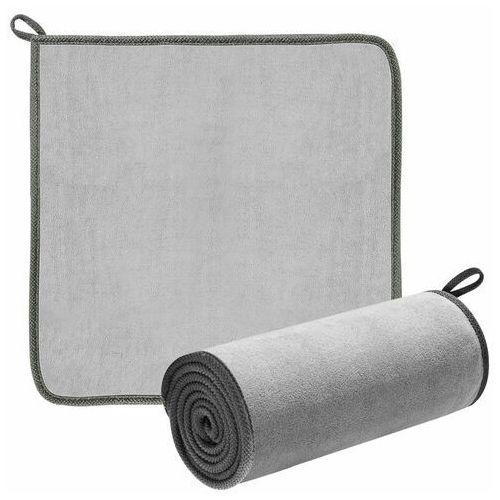 Pozostałe akcesoria do samochodu, Baseus 2x ręcznik z mikrofibry do osuszania samochodu mikrofibra 40 cm x 40 cm szary (CRXCMJ-0G) - Szary