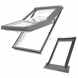 Okno dachowe DOBROPLAST Skylight Premium 66x118 białe + kołnierz falisty zestaw