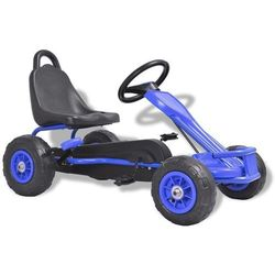 vidaXL Gokart na pedały, z oponami pneumatycznymi, niebieski Darmowa wysyłka i zwroty