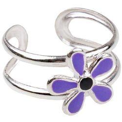 Pierścionek na palec u stopy Kwiat fioletowy