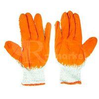 Rękawice ochronne, Duże rękawice robocze WAMPIRKI XL pomarańczowe (10 par) - 10par \ 10 ||XL