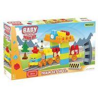 Kolejki i tory dla dzieci, Baby Blocks Kolejka 58 elementów