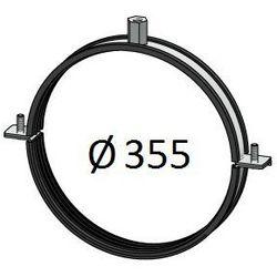 Obejma z uszczelką Średnice od DN 100-400 mm do rur Spiro Przewodów wentylacyjnych Średnica [mm]: 355
