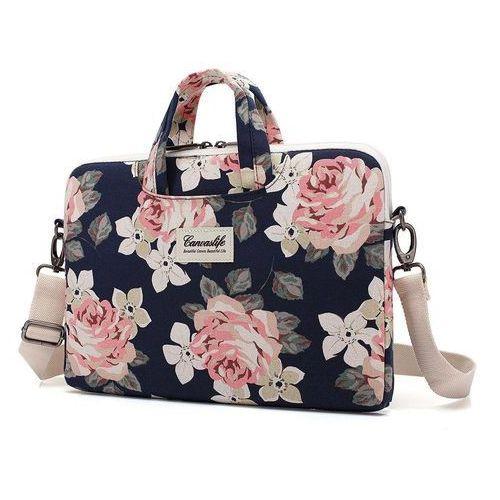 Pokrowce, torby, plecaki do notebooków, TORBA CANVASLIFE BRIEFCASE MACBOOK PRO 15 NAVY ROSE