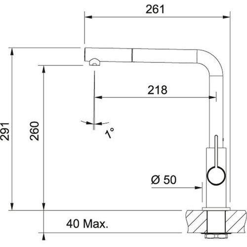 Baterie do kuchni, Bateria Franke Neptune 115.0150.243