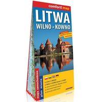 Mapy i atlasy turystyczne, Litwa Wilno Kowno laminowana mapa samochodowa 1:700 000/1:10 000/1:15 000 - Praca zbiorowa