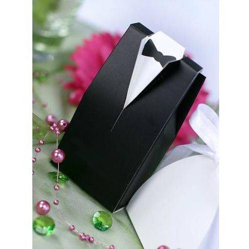 Pozostałe na ślub i wesele, PUDEŁECZKA NA PREZENCIKI PAN MŁODY CZARNE 10 szt.