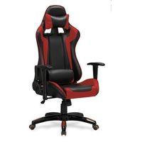 Fotele dla graczy, Fotel gamingowy Halmar DEFENDER czerwony - fotel dla gracza