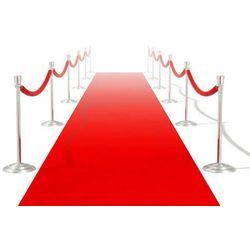 vidaXL Czerwony dywan 1 x 20 m Extra gęsty 400 g/m2 Darmowa wysyłka i zwroty