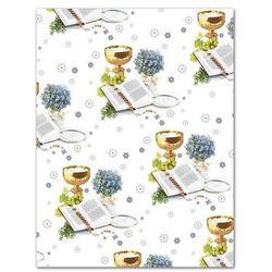 Papier do pakowania prezentów na komunię - 99,5 x 68,5 cm - 1 szt.