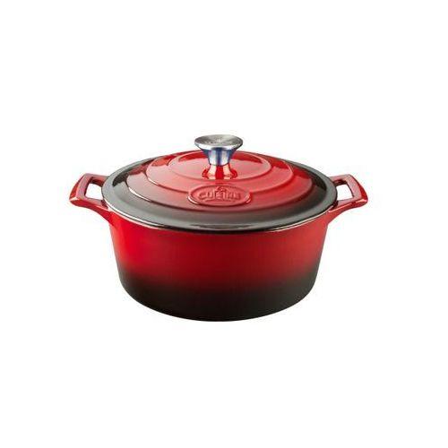Garnki, La Cuisine - Garnek żeliwny okrągły Pro 26cm 4.75l Czerwony