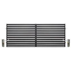 Brama dwuskrzydłowa z automatem Polbram Steel Group Lara 2 4 x 1,54 m czarna