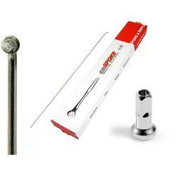 Szprycha cieniowana CnSpoke DB454 stal nierdzewna długość- 258 mm srebrna