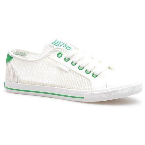 Obuwie sportowe dla kobiet, Trampki Big Star FF274445 Białe/Zielone