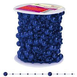 Girlanda perłowa sznurek z perełkami granatowy 20m - granatowy / perłowy