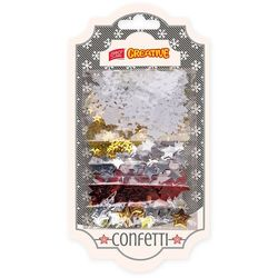 Konfetti EASY Creative 838966 gwiazdki i śnieżki (5 x 4 gramy)