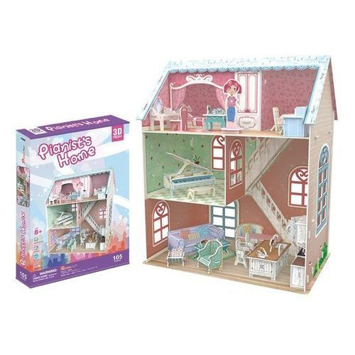 Domki dla lalek, PUZZLE 3D Domek dla lalek Pianist