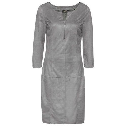 Suknie i sukienki, Sukienka bonprix szary