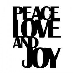 Świateczny napis na ścianę PEACE LOVE AND JOY PLAJ1-1