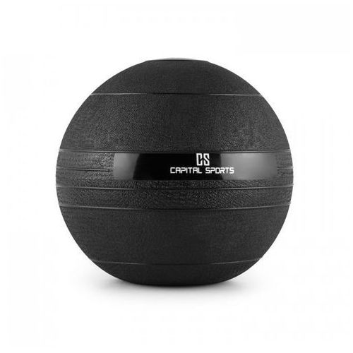 Inne do fitnessu, Capital Sports Groundcracker piłka Slamball czarna guma 4kg