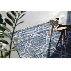 Dywan niebieski - 140x200 cm - chodnik - mata - bawełna - Adiyaman