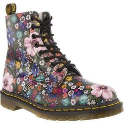 Dr Martens 1460 PASCAL WANDERLUST BLACK MALLOW PINK - Buty Glany Damskie - Motyw