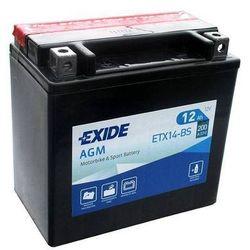 Akumulator motocyklowy EXIDE ETX14-BS/ YTX14-BS 12V 12Ah 200A EN L+