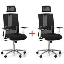 Krzesło biurowe Essen White 1+1 gratis, czarne Włóż do koszyka jedną sztukę, drugą sztukę wyślemy automatycznie gratis. Akcja trwa do wyprzedania zasobów.