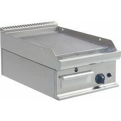 Płyta grillowa gazowa ryflowana nastawna | 395x530mm | 6000W