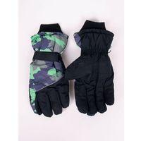 Odzież do sportów zimowych, Rękawiczki narciarskie męskie czarne moro 22