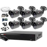 Zestawy monitoringowe, Monitoring domu jednorodzinnego zestaw: Rejestrator LV-XVR84N, 6x Kamera LV-AL30MT, akcesoria