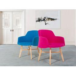 Fotel niebieski - wypoczynkowy - do salonu - tapicerowany - YSTAD