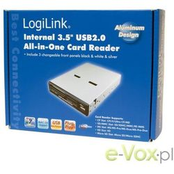"""Czytnik kart ALL-IN-ONE wewnętrzny CR0005C LogiLink 3,5"""" USB"""