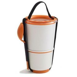 Pojemnik na lunch Lunch Pot biało-pomarańczowy