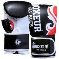 Rękawice do walki, Rękawice bokserskie BOXEUR BXT-5139 (rozmiar M) Czarno-czerwony