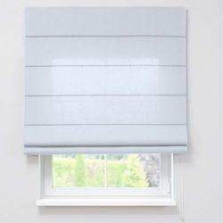Dekoria Roleta rzymska zaciemniająca, szaro-biały, szer.80 × dł.170 cm, Blackout - zaciemniające