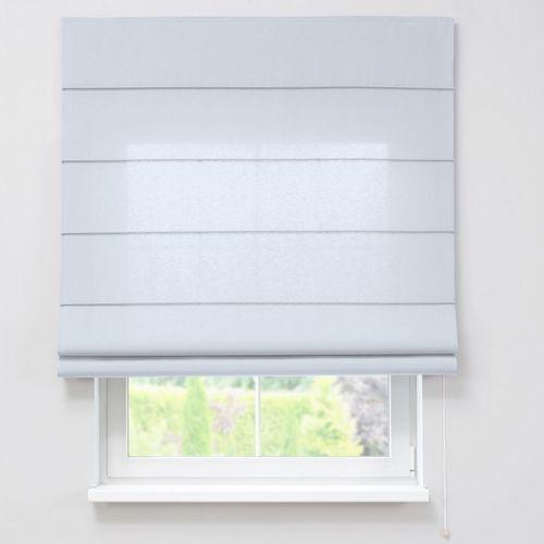 Rolety, Dekoria Roleta rzymska zaciemniająca, szaro-biały, szer.80 × dł.170 cm, Blackout - zaciemniające