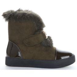 Modne i Eleganckie Sneakersy Damskie Śniegowce firmy Sergio Todzi Khaki (kolory)